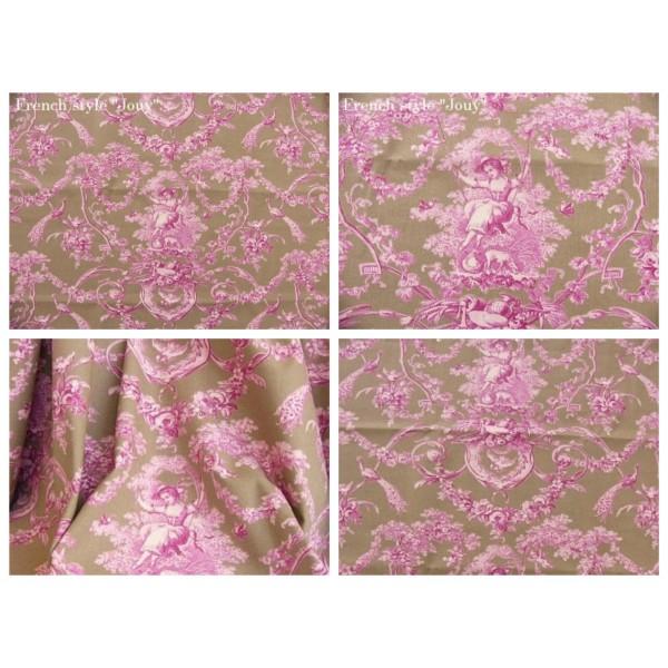 Tissu toile de jouy tissu romantique tissu au m tre - Toile chilienne au metre ...