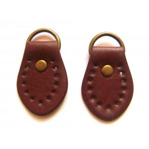 paire de boucles cuir synthétique pour anse de sac 35mmx50mm (marron)