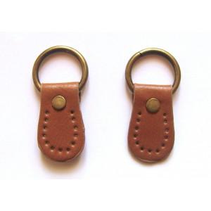 paire de boucles cuir synthétique pour anse de sac 26mmx45mm (camel)