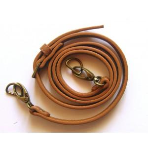 Anse de sac bandoulière réglable en cuir synthétique 1.4x115-124cm ( camel )
