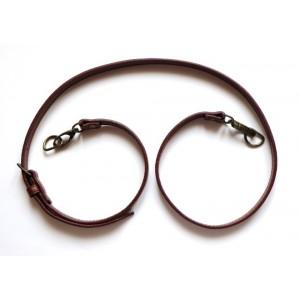 Anse de sac bandoulière réglable en cuir synthétique 1.4x115-124cm ( marron )