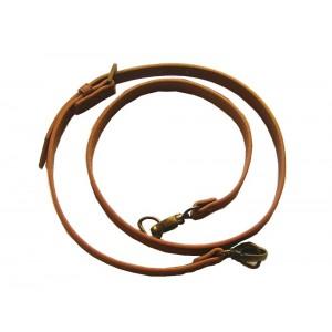 Anse de sac bandoulière réglable en cuir synthétique 1.8x115-124cm ( camel )