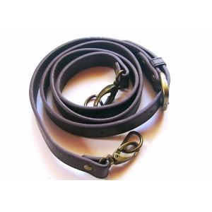Anse de sac bandoulière réglable en cuir synthétique 1.8x115-124cm ( chocolat )