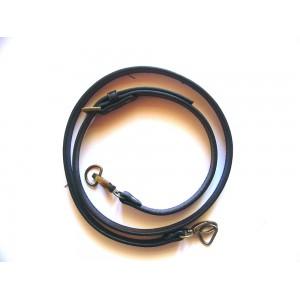 Anse de sac bandoulière réglable en cuir synthétique 1.8x115-124cm ( noir )