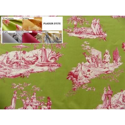SC1 : Tissu 150L Toile de Jouy PLAISIRS D'ETE (5 couleurs au choix)