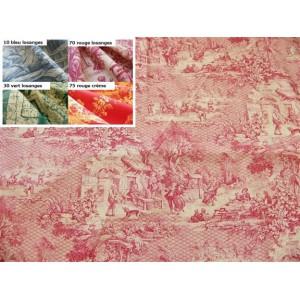 SC1 : Tissu 150L Toile de Jouy DANSE VILLAGEOISE (4 couleurs au choix)