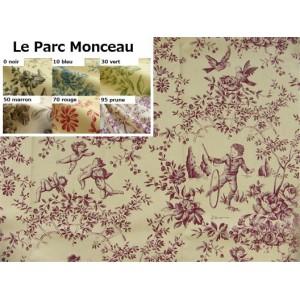 SC1 : Tissu 150L Toile de Jouy LE PARC MONCEAU (6 couleurs au choix)