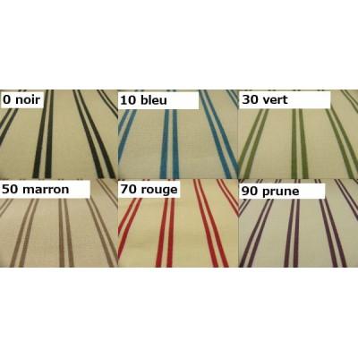 SC1 : Tissu 150L rayure GRILLES D'OR (6 couleurs au choix)