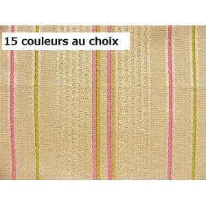 SC1 : Tissu 140L rayure CAMPANULE (15 couleurs au choix)