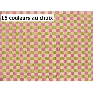 SC1 : Tissu 140L petits carreaux DIGITALE (15 couleurs au choix)