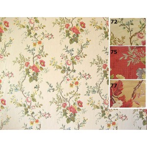 SC1 : Tissu 140L BELLE DE JOUR (3 couleurs au choix) lampas motifs ramage de fleurs