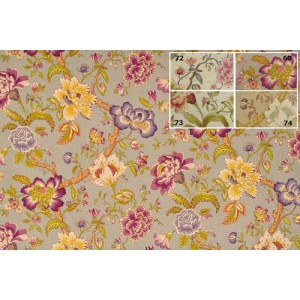 SC2 : Tissu 135L KAMPUR (3 couleurs au choix) Imprimé lin viscose motif floralclassique