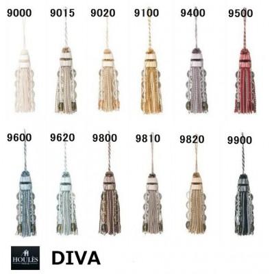 SC2 : HOULES Gland de clé pompon DIVA (12 couleurs au choix)