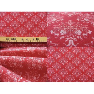 coupon de tissu TILDA 70x50 Victoria fond rouge