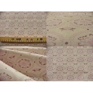 coupon de tissu TILDA 70x50 Lily rose fond blanc