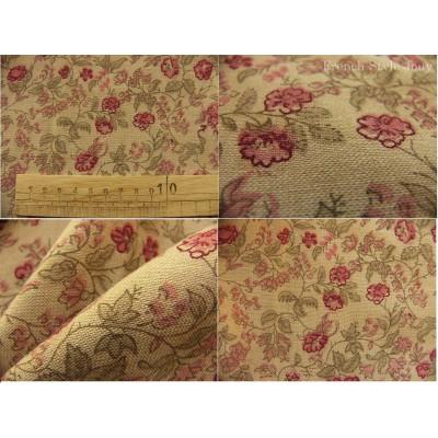 tissu coupon / par 50cm : ANGELE chambray rouge