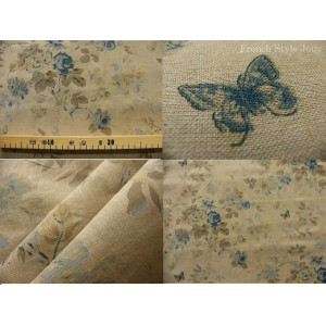 tissu coupon / par 50cm : HELENA chambray bleu
