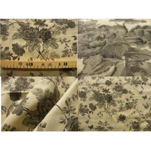 tissu coupon / par 50cm : HELENA thé beige