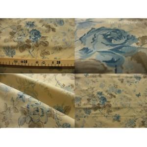 tissu coupon / par 50cm : HELENA thé bleu
