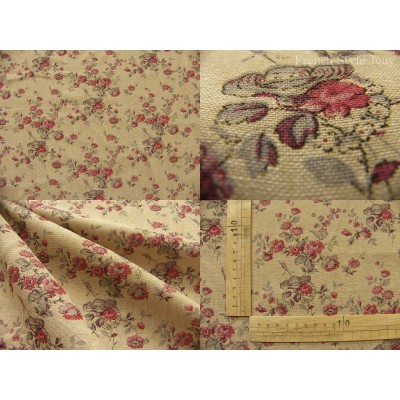 tissu coupon / par 50cm : MARION chambray rouge