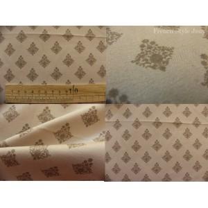 tissu coupon / par 50cm : RATNA beige fond beige