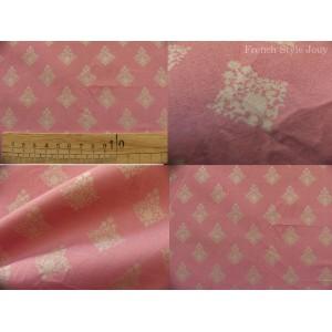 tissu coupon / par 50cm : RATNA beige fond rose