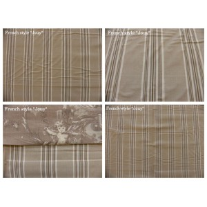 tissu coupon / par 50cm : rayure DANO beige