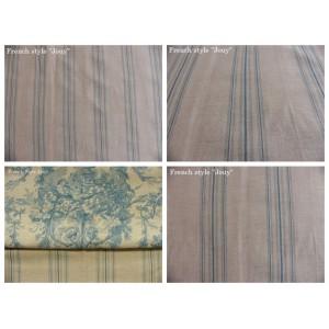 tissu coupon / par 50cm : rayure DANO chambray bleu