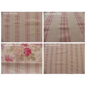 tissu coupon / par 50cm : rayure DANO chambray rose