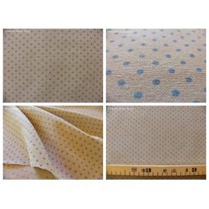 tissu coupon / par 50cm : DOTS chambray bleu