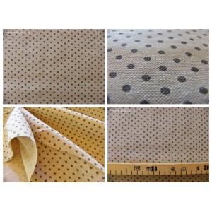 tissu coupon / par 50cm : DOTS chambray gris