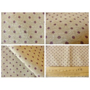tissu coupon / par 50cm : DOTS chambray violet