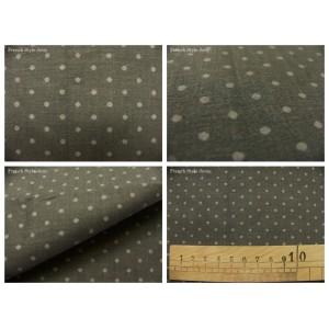 tissu coupon / par 50cm : DOTS gris fond gris