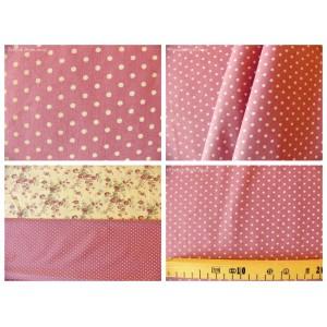 tissu coupon / par 50cm : DOTS gris fond violet