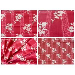 tissu coupon / par 50cm : ELSA rouge
