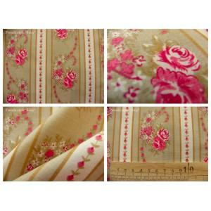 tissu coupon / par 50cm : EVA rouge fond beige