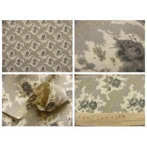tissu coupon / par 50cm : LEA thé beige