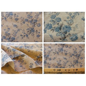 tissu coupon / par 50cm : MARION chambray bleu