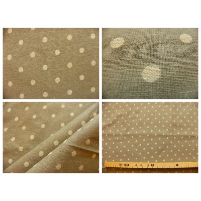 tissu coupon / par 50cm : MOON beige-chambray