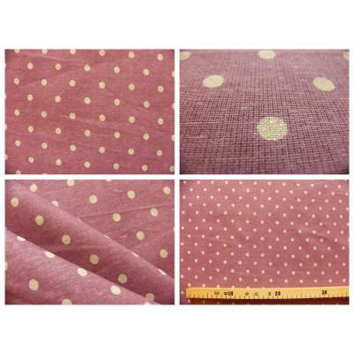 tissu coupon / par 50cm : MOON violet-chambray