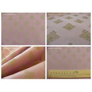 tissu coupon / par 50cm : RATNA taupe fond violet