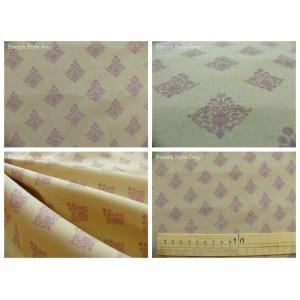 tissu coupon / par 50cm : RATNA violet fond taupe