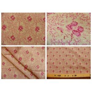 tissu coupon / par 50cm : ROSINE chambray rouge