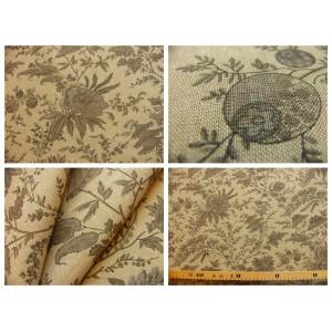 tissu coupon / par 50cm : SATI chambray beige