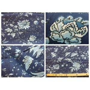 tissu coupon / par 50cm : SATI indigo-bleu