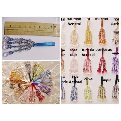 Pompon perle Cristal (16 couleurs au choix)