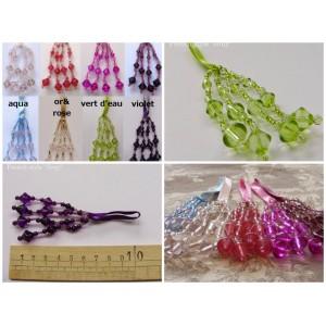 Pompon perle Losange (8 couleurs au choix)