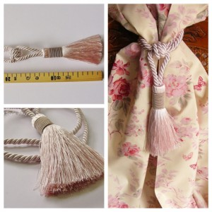 Embrasse rideau Bicolore (rose claire)