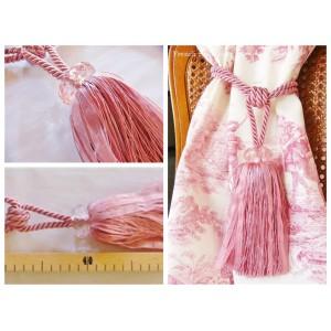 Embrasse rideau Diamonde (77: rose claire)