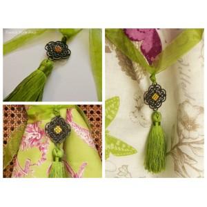Embrasse rideau Antique (vert)